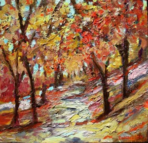 Central Park, 2007, Oil on Canvas, 12 x 12 in.