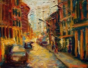 Soho, 2009, Oil on Canvas, oil painting, Amy Donaldson