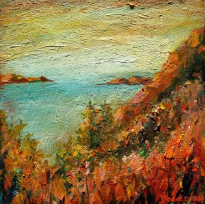 Coast, 2006, Oil on Canvas, 12 x 12 in.