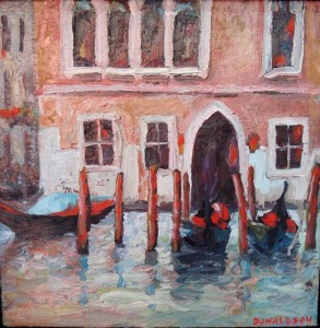 Venice, 2008, Oil on Canvas, 12 x 12 in. painting, Amy Donaldson
