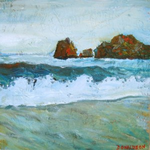 Cabo Coast, 2009, Oil on Canvas, 12in x 12in