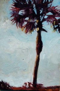 Single Palm, 2006, Oil on canvas, 10 x 8 in.