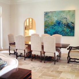 Amy Donaldson, abstract art, naples, Florida, Painting, dining room