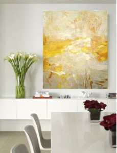 72 x 60in, Mixed Media on Canvas, dining room, Abstract art, modern art by modern artist Amy Donaldson