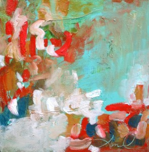 Amusement, 2010, Oil on Canvas, 10 x 10 in.Amy Donaldson, Abstract Art, Modern Art, oil painting