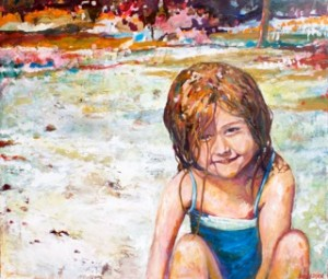 Aiden, 2007, Oil on Canvas, 56 x 63 in. Amy Donaldson