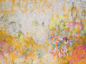 Believe,  Pigment and Spray Paint on Canvas, 48 x 36 in. © Amy Donaldson 2012