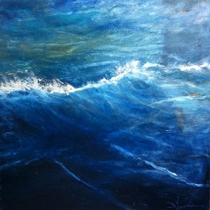 Deep Ocean, Oil and Texture on Canvas, 44 x 44 in.© 2011 Amy Donaldson