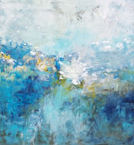 Ocean, Oil and Texture on Canvas, 71 x 64, abstract art, Amy Donaldson