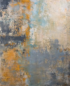 Amy Donaldson, abstract art grey pigment painting