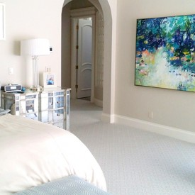 blue painting, master bedroom painting, blue art, fine art, abstract art