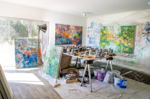 studio, california studio, artist studio, amy donaldson, contemporary art, fine art, abstract art
