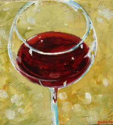 abstract art, amy donaldson, oil painting, contemporary art, wine glass
