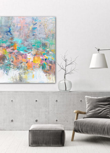 Oil painting, amy donaldson, interior design, interior decor, modern art, home decor