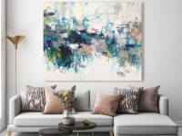 oil painting, abstract art, interior design